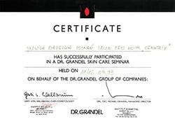 certyfikat Grandel