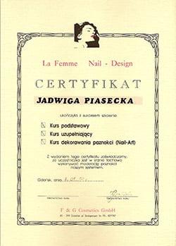 Certyfikat La Fame