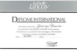 certyfikat Isabelle