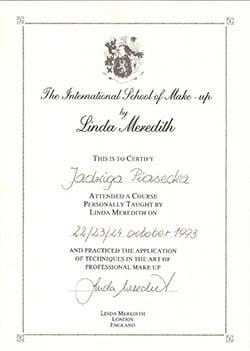 certyfikat Linda