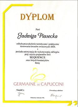 certyfikat capuccini