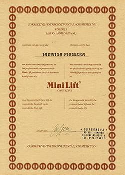 certyfikat mini lift